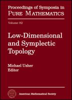 Low-dimensional and symplectic topology [electronic resource]