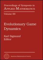 Evolutionary game dynamics [electronic resource] : American Mathematical Society Short Course, January 4-5, 2011, New Orleans, Louisiana