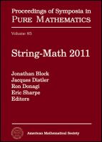 String-Math 2011 [electronic resource]