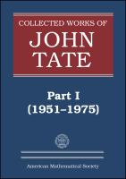 Collected works of John Tate /