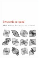Keywords in sound [electronic resource]