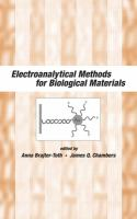 Electroanalytical methods for biological materials [electronic resource]