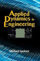 Applied dynamics in engineering