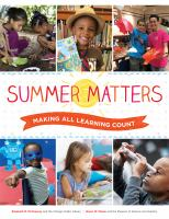 Summer matters : making all learning count /