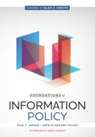 Foundations of information policy /