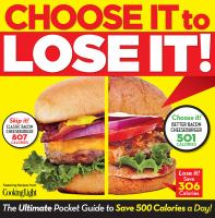 Choose it to lose it! : the ultimate pocket guide to save 500 calories a day!