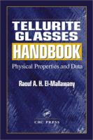 Tellurite Glasses Handbook [electronic resource]: Physical Properties and Data