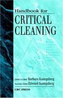 Handbook for Critical Cleaning [electronic resource]