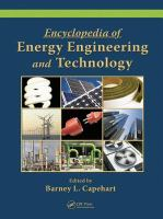 Encyclopedia of Energy Engineering and Technology - Volume 3. Vol. 13 [electronic resource]