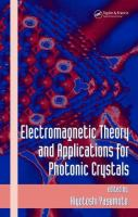 Electromagnetic Theory. Vol. 103 [electronic resource]