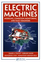 Electric machines [electronic resource] : modeling, condition monitoring, and fault diagnosis