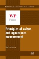Process heat transfer. Volume 1, Object appearance, colour perception and instrumental measurement [electronic resource] : principles, applications and rules of thumb.