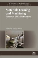Materials forming and machining [electronic resource] : research and development