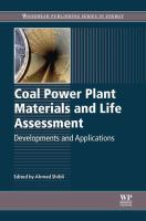 Coal power plant materials and life assessment [electronic resource] : developments and applications