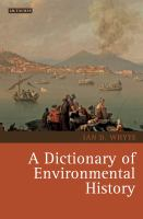 A dictionary of environmental history
