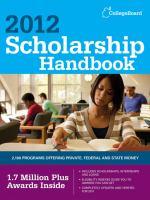 Scholarship Handbook 2012