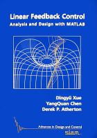 Linear feedback control [electronic resource] : analysis and design with MATLAB