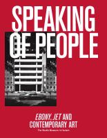 Speaking of people : Ebony, Jet and contemporary art /