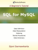 SQL for MySQL : a beginner's tutorial