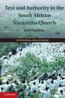 Text and authority in the South African Nazaretha Church /