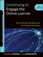 Continuing to engage the online learner : activities and resources for creative instruction