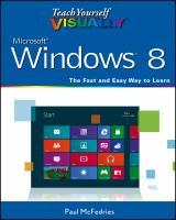 Book cover for Teach Yourself Visually Windows 8