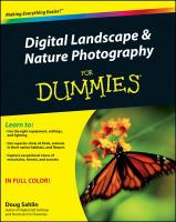 Digital landscape & nature photography for dummies [electronic resource]