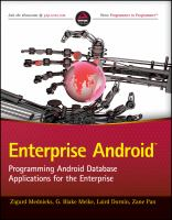 Enterprise android : programming android database applications for the enterprise