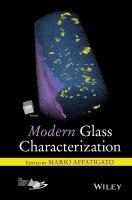 Modern glass characterization [electronic resource]