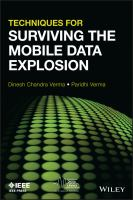 Techniques for surviving the mobile data explosion [electronic resource]