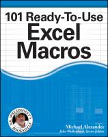 101 ready-to-use Excel macros [electronic resource]