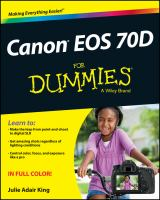 Canon EOS 70D for dummies [electronic resource]