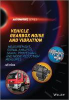 Vehicle gearbox noise and vibration [electronic resource]