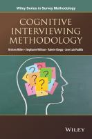 Cognitive interviewing methodology [electronic resource]