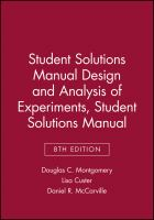 Design and analysis of experiments : student solutions manual
