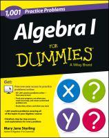 1001 algebra I practice problems for dummies