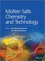 Molten salts chemistry and technology [electronic resource]