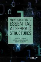 An introduction to essential algebraic structures [electronic resource]