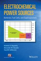 Electrochemical power sources [electronic resource] : batteries, fuel cells, and supercapacitors