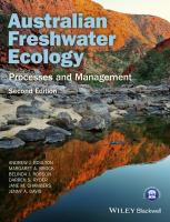 Australian freshwater ecology : processes and management