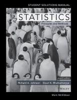 Statistics principles & methods,7e : student solutions manual