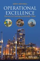 Operational excellence [electronic resource] : journey to creating sustainable value