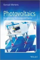 Photovoltaics [electronic resource] : fundamentals, technology and practice