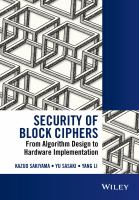 Security of block ciphers [electronic resource] : from algorithm design to hardware implementation