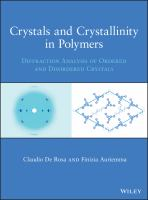 Crystals and crystallinity in polymers : diffraction analysis of ordered and disordered crystals