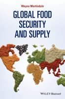 Global food security and supply [electronic resource]