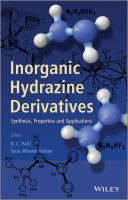 Inorganic hydrazine derivatives [electronic resource] : synthesis, properties, and applications