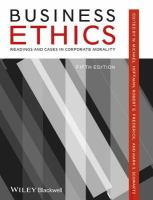 Business ethics : readings and cases in corporate morality