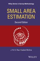 Small area estimation [electronic resource]