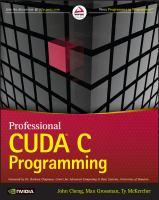 Professional CUDA C programming [electronic resource]